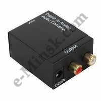 Звуковая карта Orient DAC0202 Digital to Analog Audio Converter (Optical/Coaxial In, 2xRCA Out), КНР