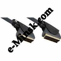 Кабель Hama Connecting SCART(m)-SCART(m) 1.5m 1зв черный (H-122140), КНР